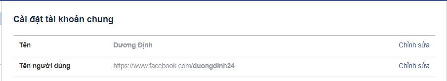 doi ten duong dan den trang ca nhan facebook