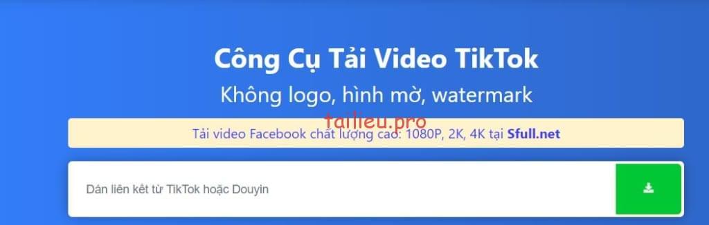 cach tai video tiktok full hd khong logo cho may tinh dien thoai