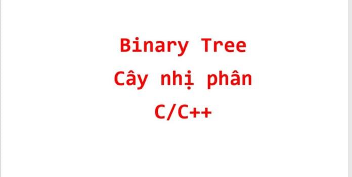 cay nhi phan binary tree cai dat bang con tro code c