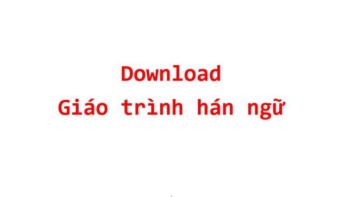 tai giao trinh han ngu pdf hoc tieng trung full phien ban moi